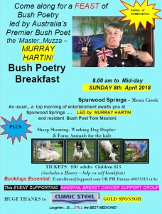Bush Poets Brekky Murray Hartin 8 Apr 18